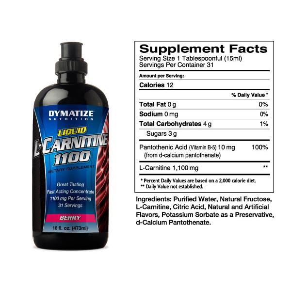 Liquid L-Carnitine (Dymatize) - описание, отзывы, цена. Выбрать и ...